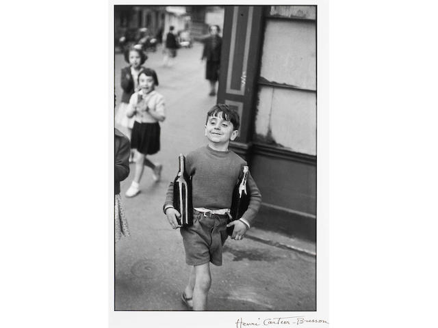 Henri Cartier-Bresson Rue Mouffetard 16 x 20 signed