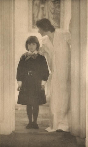 Gertrude Käsebier (American, 1852-1934); Blessed Art Thou Among Women;