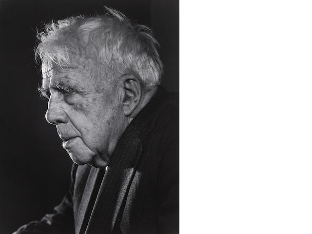 Yousuf Karsh (Canadian, 1908-2002); Robert Frost;