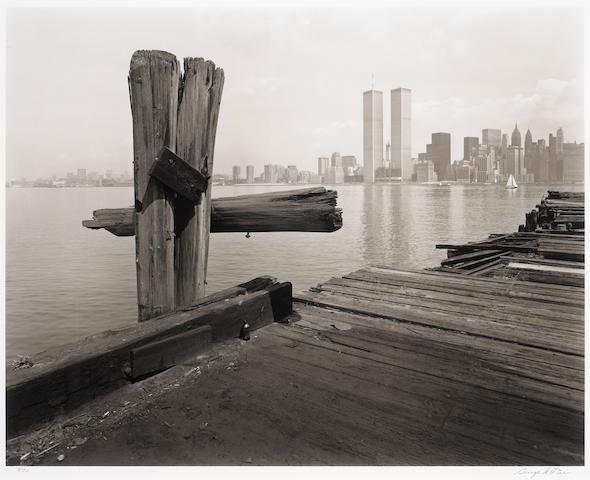 George Tice Hudson River Pier 1979/2006 Platinum/palladium;