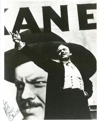 Orson Welles photograph signed