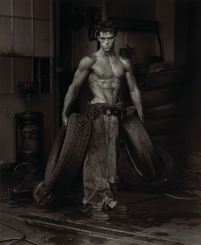 herb ritts, fred with tires