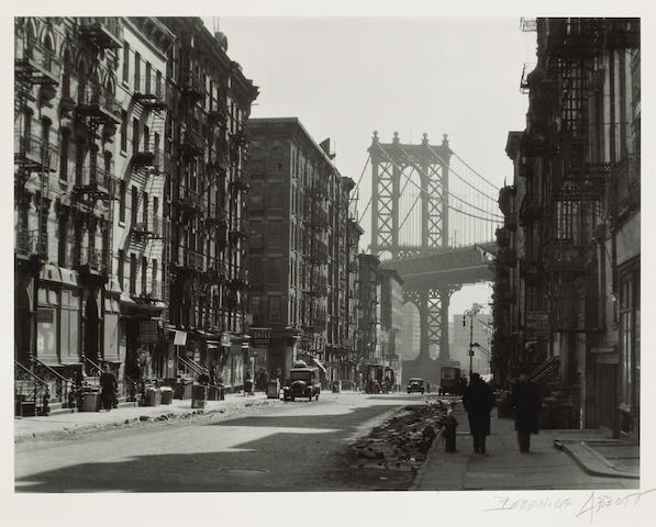 Berenice Abbott (American, 1898-1991); Pike and Henry Streets, Manhattan, March 6;