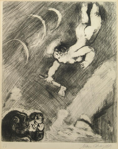 Marc Chagall (Russian/French, 1887-1985); Pl. 54, from Les Fables de la Fontaine;