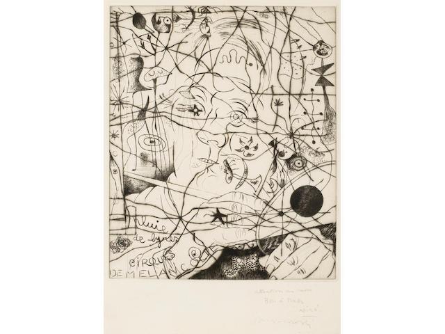 Joan Miró (Spanish, 1893-1983); Portrait de Miró;