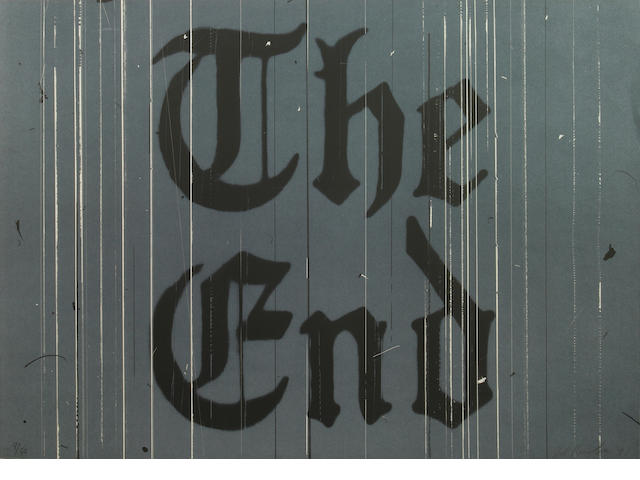 Edward Ruscha (American, born 1937); The End;