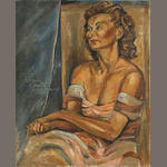 Federico Cantú (Mexican, 1908-1989) Portrait of Marie Sawyer, 1948 30 x 24in (76.2 x 61cm) unframed
