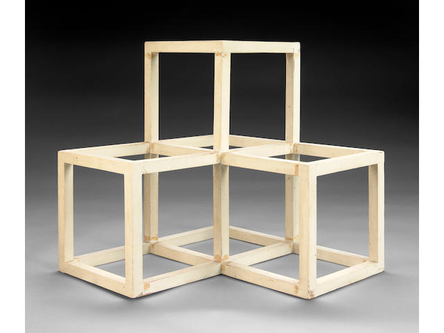 Sol LeWitt (American, 1928-2007) Untitled (Cube sculpture) 15 x 15 x 15in