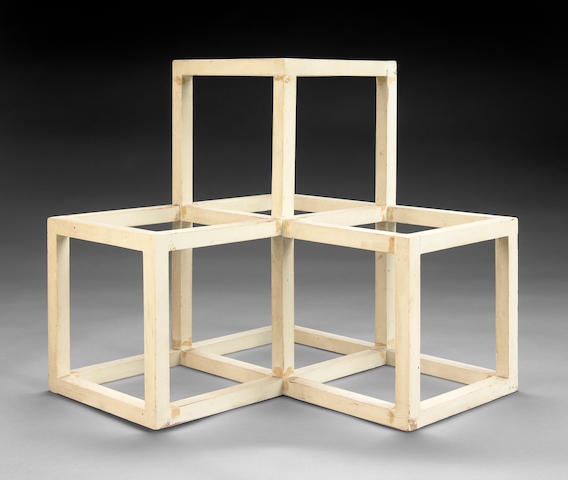 (n/a) Sol LeWitt (American, 1928-2007) Untitled (maquette for Steel Structure), c. 1975 15 x 15 x 15in (38.1 x 38.1 x 38.1cm)