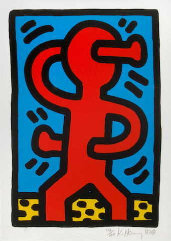 Keith Haring (American, 1958-1990); Untitled; (4)