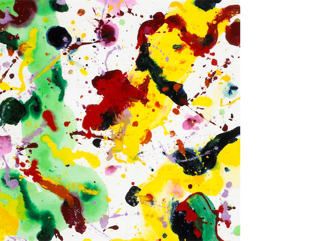 Sam Francis (American, 1923-1994) Untitled, 1985 (SF85-2007) 28 1/2 x 29in