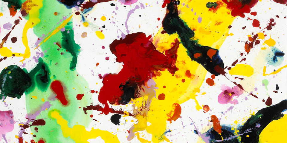 Sam Francis (American, 1923-1994) Untitled, 1985 (SF85-2007) 28 1/2 x 29in