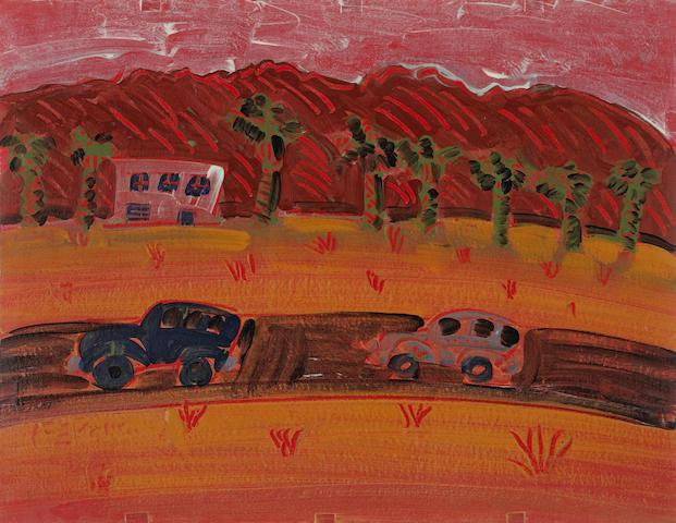 Frank Romero (American, born 1941) Down the Gene Autry Trail, 2003 20 x 25 3/4in