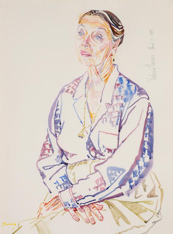 Don Bachardy (American, born 1934) Patricia Morison, 1995 30 x 22in
