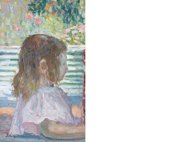 Henri Lebasque (French, 1865-1937) Petite tête de profil, c. 1905 15 3/16 x 9 1/16in (38.5 x 23cm)