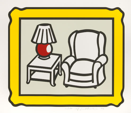 Roy Lichtenstein (American, 1923-1997); Red Lamp;