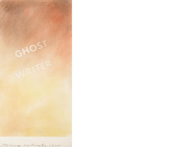 Edward Ruscha (American, born 1937) Ghost Writer, 1978 15 5/8 x 7 5/8in