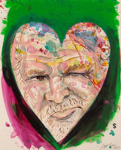Robert Arneson (American, 1930-1992) Fine Heart, 1987 34 1/2 x 28in