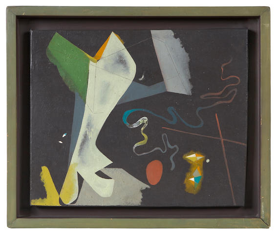 Claire Falkenstein (American, 1908-1997) Untitled, 1946 14 1/4 x 17 1/4in