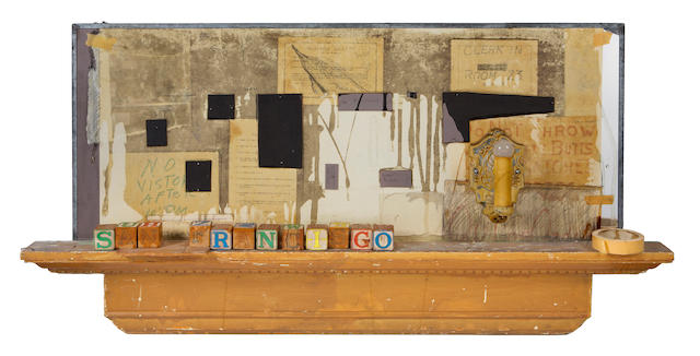 Edward Kienholz (American, 1927-1994) Untitled (San Francisco), 1984 24 1/2 x 51 1/2 x 4 1/2in