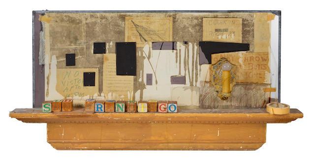 Edward Kienholz (American, 1927-1994) Untitled (San Francisco), 1984 24 1/2 x 51 1/2 x 4 1/2in