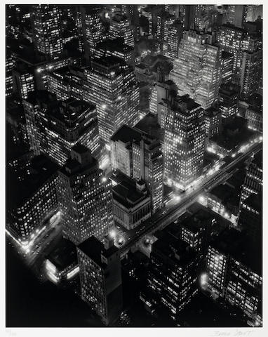 Berenice Abbott (American, 1898-1991); New York at Night;