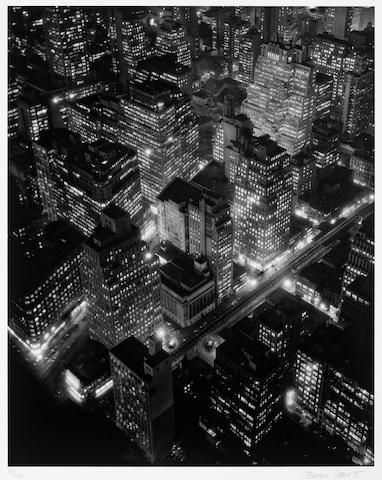 Berenice Abbott (American, 1898-1991); New York at Night;