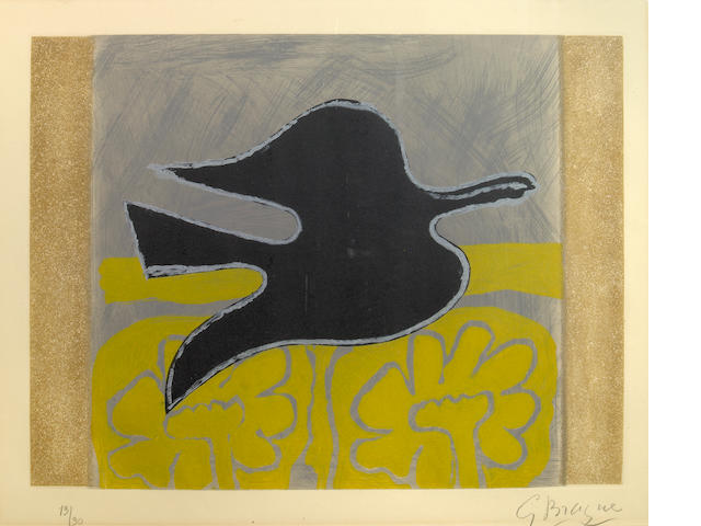 Georges Braque (French, 1882-1963); Untitled, from L'ordre des oiseaux;