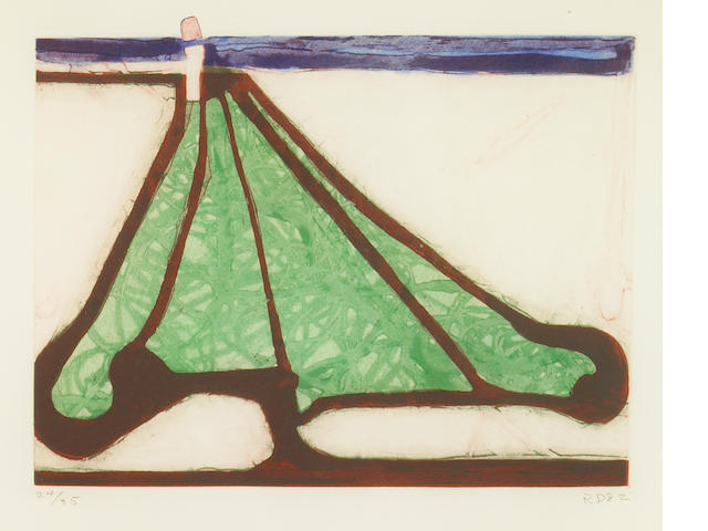 Richard Diebenkorn (American, 1922-1993); Green Tree Spade, from Five Spades;