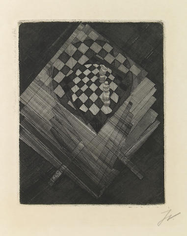 Jacques Villon (French, 1875-1963); Table d'Échecs, from Die Schaffenden;