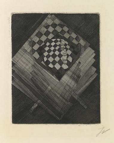 Jacques Villon (French, 1875-1963); Table d'Échecs, from Die Schaffenden;