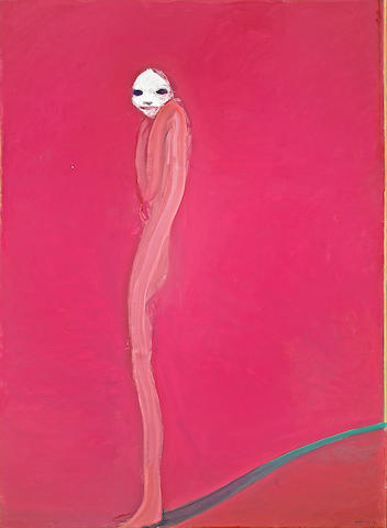 Nathan Oliveira (American, born 1928) Figure with White Face, 1973 92 x 66in