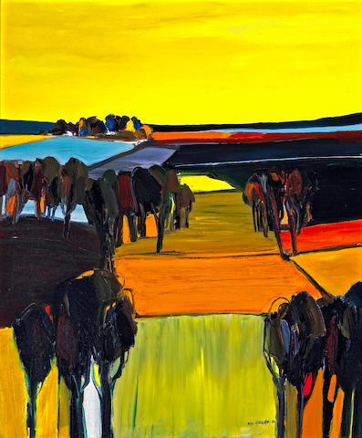 Rodney Harder (American, born 1951) Untitled (Landscape), 1971 48 x 40in