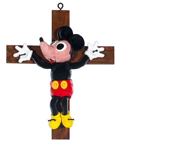 David James Gilhooly (American, born 1943) Mickey Crucifix, 2009 26 x 20 1/2 x 5in