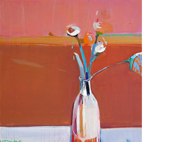 Raimonds Staprans (Latvian/American, born 1926) Still Life with Flowers 40 x 40in