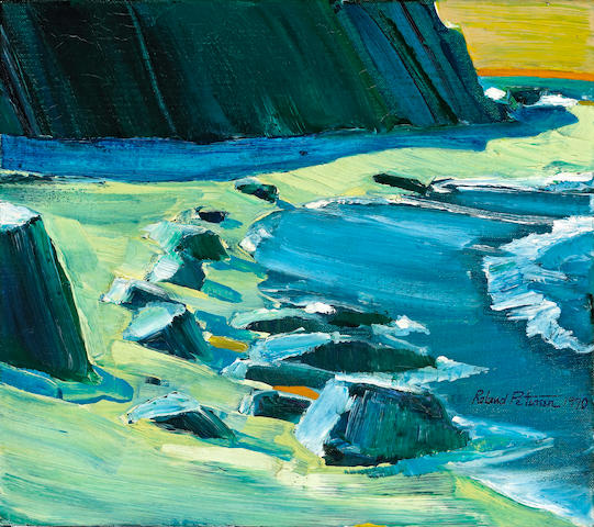 Roland Petersen (American/Danish, born 1926) The Cove, 1970 14 x 16in