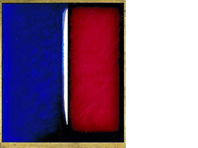 Eric Orr (American, 1939-1998) Untitled, 1984 48 3/4 x 42in <br>frame 52 x 44in