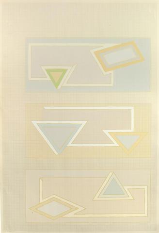 Frank Stella (American, born  1936); Pastel Stack;