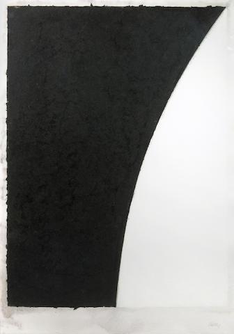 Ellsworth Kelly (American, born 1923); Colored Paper Image VI (White Curve with Black II);