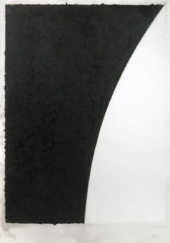 Ellsworth Kelly (American, born 1923); Colored Paper Image VI (White Curve with Black II);