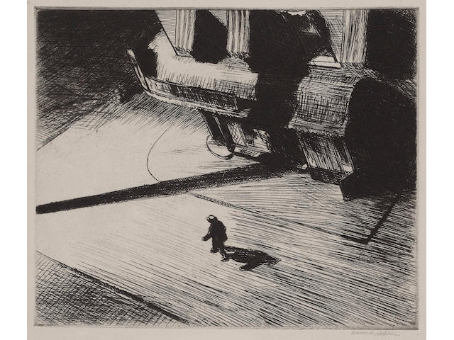Edward Hopper (American, 1882-1967); Night Shadows;