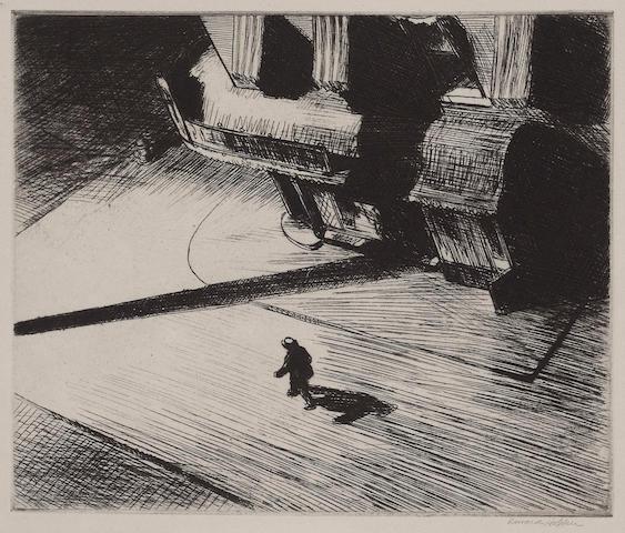 Edward Hopper (American, 1882-1967); Night Shadows;