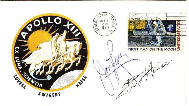 APOLLO 13 LAUNCH COVER—SIGNED.