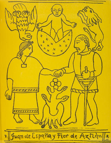 Diego Rivera (Mexican, 1886-1957); Joaquín Mendéz Rivas, Cuauhtémoc, Tragedia;