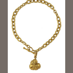 An eighteen karat gold necklace, Kieselstein Cord,