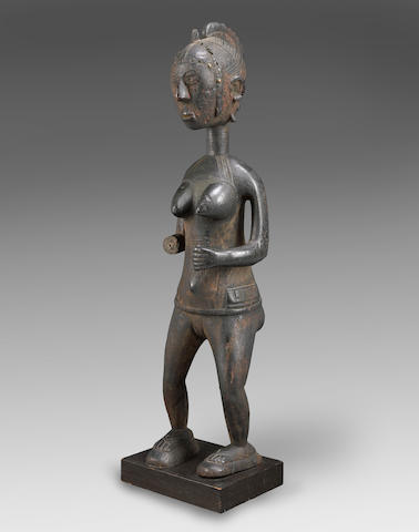 A Baga standing female figure height 35 1/2in