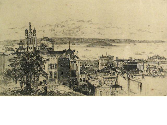 John William Winkler (American, 1890-1979); San Francisco Bay;