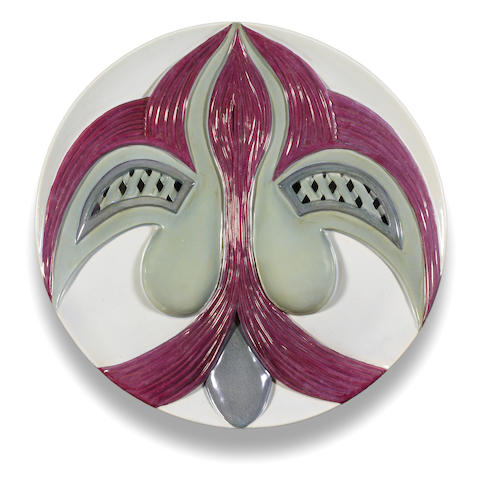Judy Chicago (American, born 1939) The Dinner Party Test Plate (Eleanor of Aquitaine), 1979 diameter