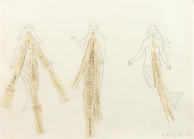 (n/a) Kiki Smith (German/American, born 1954) Untitled (Mermaids), 1994 18 7/8 x 26 3/8in (48 x 67cm)