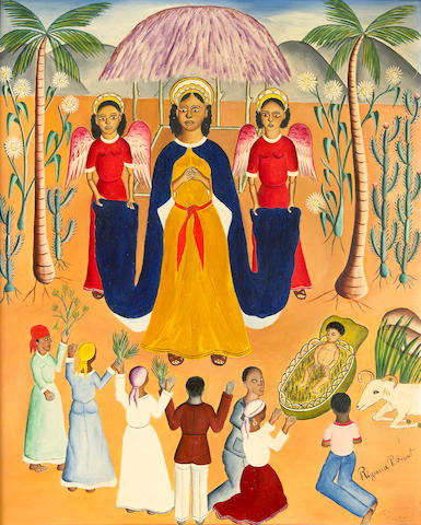 Rigaud Benoit (Haitian, 1911-1986) Nativity, c. 1950 20 x 16in (50.8 x 40.7cm)